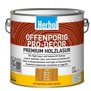 Herbol Offenporig Pro-Décor univerzálne použiteľná lazúra na drevo