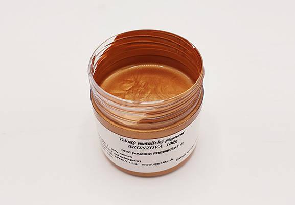 Metalický tekutý pigment bronzova