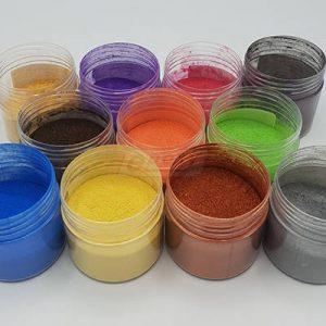Práškový metalický pigment na zafarbovanie epoxidových živíc.